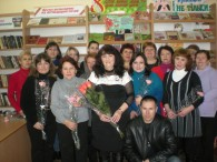 Колектив Бершадської районної бібліотеки святкує 8 Березня