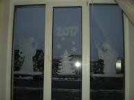 Віконце методичного кабінету Зимові пейзажі на абонементі з обслуговування дорослих читачів та юнацтва Віконечко дитячої бібліотеки Святкове оформлення вікон від художника Бершадської центральної районної бібліотеки Мазуренка Сергія